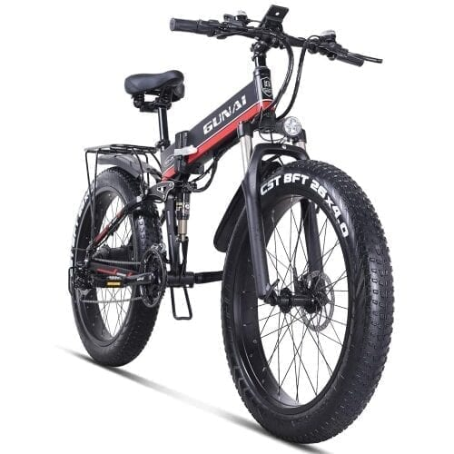 gunai mx01 mtb fat bike 26 pollici frontale